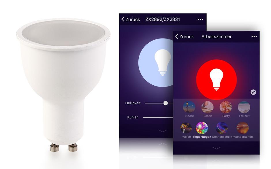 Technik zu Hause: Praxistest Luminea WLAN-LED-Lampen GU10