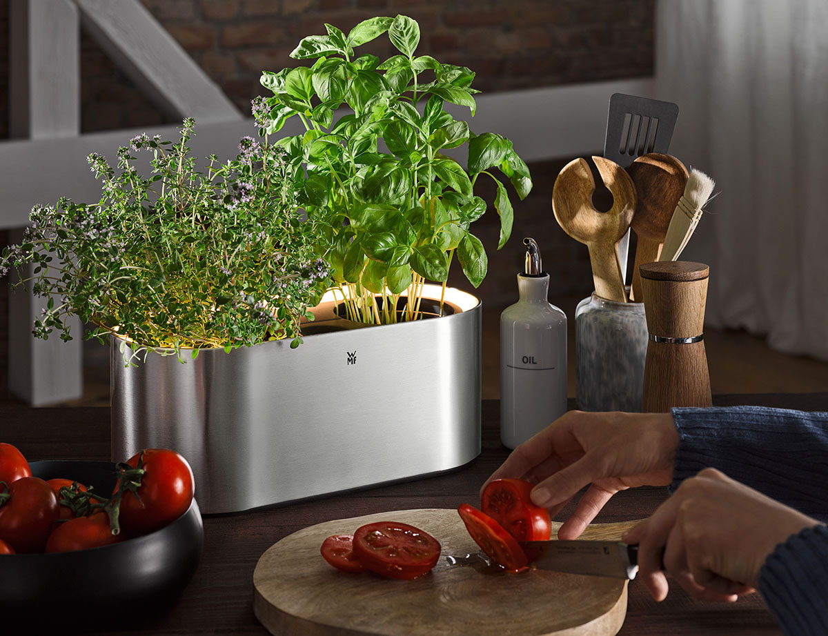 Üb elektrischer Kräutergarten für 2 Kräutertöpfe WMF AMBIENT Kräuter@home