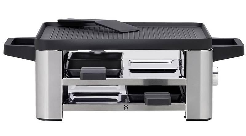 technik zu hause test wmf lono raclette for 4. Black Bedroom Furniture Sets. Home Design Ideas