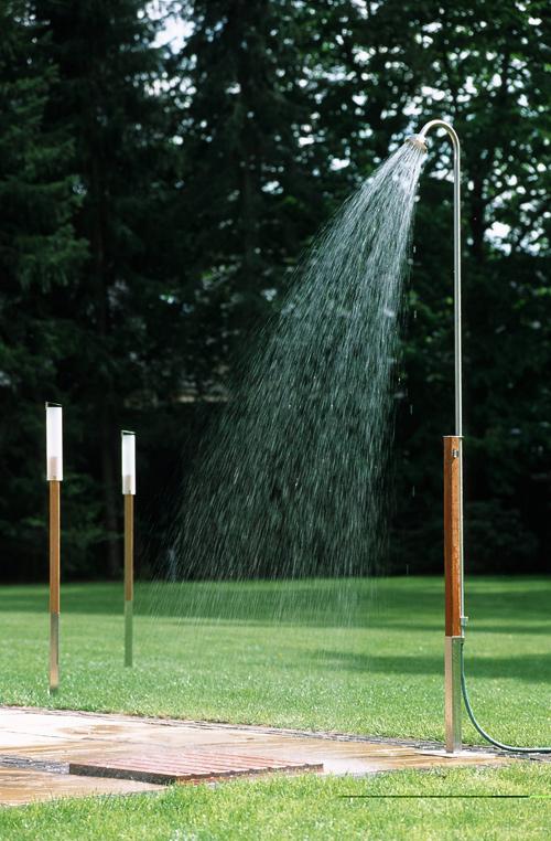 Technik zu hause loom living monsun erfrischung per for Gartendusche bodenplatte