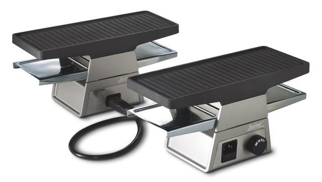 technik zu hause spring raclette 2 separate module f r zwei bis zehn geniesser. Black Bedroom Furniture Sets. Home Design Ideas