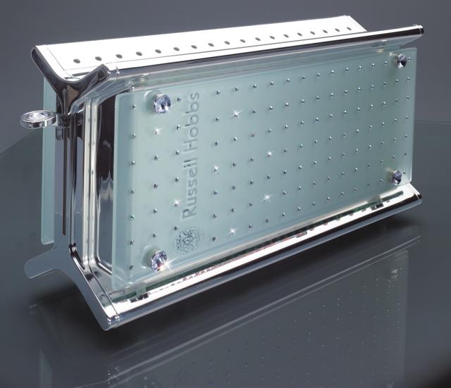 technik zu hause russell hobbs cristal glass toaster von hand veredelt mit original swarovski. Black Bedroom Furniture Sets. Home Design Ideas