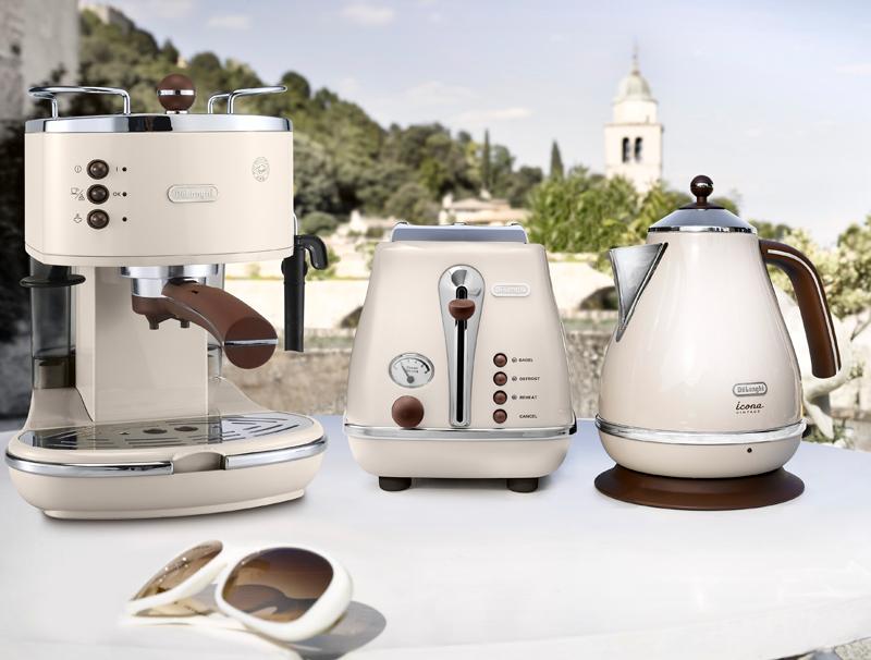 technik zu hause de longhi s icona vintage jetzt mit kaffeevollautomat und siebtr ger. Black Bedroom Furniture Sets. Home Design Ideas
