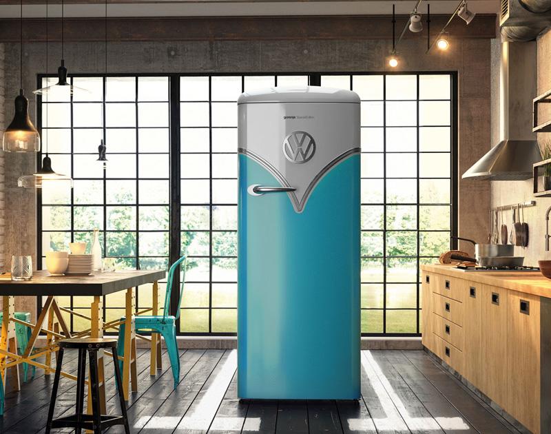 Retro Kühlschrank Vw Bulli : Echt abgefahren coole ifa dank kühlschrank in vw bulli optik